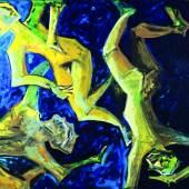 Thomas Reinhold Schwebende Knaben, 1983 Öl auf Leinwand 210 x 230 cm