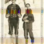 Michael Huey, Disturbance (no. 3), 2019, based on a 1920s snapshot in a family photograph album, C-Print, Diasec auf Dibond, 66 x 44 cm, ed. 5+2