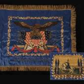 Tiffany-made Battle Flag  Extraordinary Tiffany-Made Presentation Battle Flag of the 6th Troop, New York German Hussars, 1861 Jeff R. Bridgman American Antiques