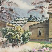 DC Moore Gallery Charles Burchfield  Tile Roof, 1930-43