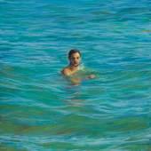 TM Davy, First Swim After, 2020 Pastell, Gouache auf Papier, 60,9 x 45,7 cm