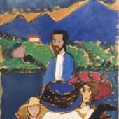 Abb: Gabriele Münter, Bootsfahrt mit Kandinsky, 1909 (Detail) Privatsammlung, ©VG Bild-Kunst, Bonn 2021