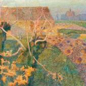 Jan Toorop LES DEUX SAULES ('NOVEMBERZON') (Zwei Weiden; Novembernachmittag) 1889 Gemeentemuseum Den Haag