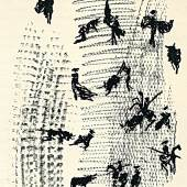 """((Bild toros y toreros bild, Bildnachweis: Kunstkabinett Strehler)): Eine Lithografie von Picasso: """"Toros y toreros"""", entstanden im Jahr 1961. Das Kunstkabinett Strehler bietet auf der Antik & Kunst ein signiertes Exemplar an."""