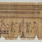 "Totengericht Detail aus dem Totenbuch der ""Taruma"" Papyrus 3./2. Jh. v. Chr. (c) onb.ac.at"