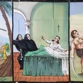 Tafel zu «Tre Giganti», erste Hälfte 20. Jh. Leimfarbe auf Papier, 149 x 292 cm Sammlung Würth, Künzelsau