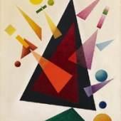 Rudolf Bauer  Triangles | 1938  Öl auf Leinwand | 130 x 100cm  Ergebnis: € 375.000