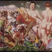 Lebenserinnerungen des Dr. jur. Schulze VII 1966/67, Mischtechnik auf Leinwand auf Holz 122 x 183 cm Museum der bildenden Künste Leipzig