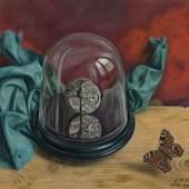 Aimé Barraud (1902 - 1954)  Mouvement de montre, 1944  Öl auf Leinwand 38 × 46 cm unten rechts signiert, datiert und bezeichnet à M. Imhof, aimé barraud 1944  Schätzpreis: CHF 6'000 - 8'000 realisierter Preis: CHF 15'552.00 Auktionsdatum: 18.06.2011