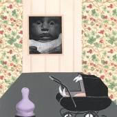 Tomi Ungerer, Ohne Titel (Warten auf Godot 5 [in der Kinderstube]), 2009 Privatsammlung Tomi Ungerer, © Tomi Ungerer