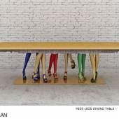 Vick Vanlian Miss Legs Dining Table by Vick Vanlian
