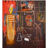 Jean-Michel Basquiat Air Power, 1984 Acrylic and oilstick on canvas £2.5-3.5m
