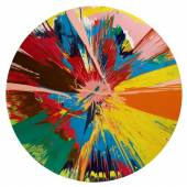 Damien Hirst Beautiful, Shattering, Slashing, Violent, Pinky, Hacking, Sphincter Painting, 1995 Household gloss on canvas £250,000-350,000