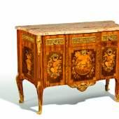Kommode Style Transition Amaranth, Königs- Satin und Fruchtholz Paris 19. Jh. Taxe: 6.000 – 8.000 Euro