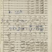 Manuscript of Gustav Mahler's