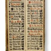 """""""Wiennerische Finger-Calenderl. Auf das Jahr 1756"""", 1756 7 x 2,5 cm © Wien Museum"""