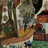 Ursula Schultze-Bluhm  Geburtstagsporträt | 1956 | Öl auf Hartfaser | 79,5 x 73 cm