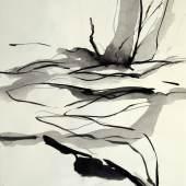 ((Bild Ute Wurtinger; Bildnachweis: Ute Wurtinger)): Stellt aus auf der ARTe in Wiesbaden: Die Wiesbadener Künstlerin Ute Wurtinger. Hier ein Werk ohne Titel, Tusche auf Papier.