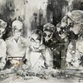 Inna Artemova Utopia XXII, 2019, Öl auf Leinwand, 110 x 145 cm.