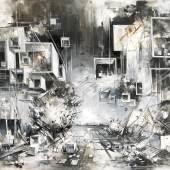 Inna Artemova Utopia XXII, 2019, Öl auf Leinwand, 170 x 240 cm