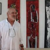 Portrait: Valentin Oman in seinem Atelier in Finkenstein, 2011 | © Stadtgalerie
