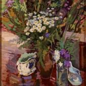 Valentsov Vladimir, Still Life with Daisies, 2011, Öl a. Lw., 80 x 85 cm, Sonderschau M.Video - ART Innsbruck 2014