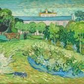 VINCENT VAN GOGH, LE JARDIN DE DAUBIGNY, 1890 Der Garten von Daubigny Öl auf Leinwand 56 x 101.5 cm Rudolf Staechelin Collection Foto: Robert Bayer