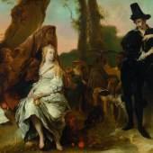3049 JAN VAN NOORDT Die Begegnung von Preziosa und Don Juan – eine amouröse Szene. Öl auf Leinwand. 131,5 x 172,5 cm. CHF 100 000 / 140 000