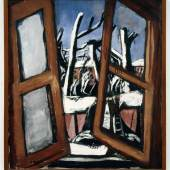 Max Beckmann (1884–1950) Winterlandschaft, 1930 Öl auf Leinwand 84 x 75.5 cm Göpel 333 Collection Van Abbemuseum, Eindhoven, The Netherlands Foto: Peter Cox, Eindhoven, The Netherlands © ProLitteris, Zürich