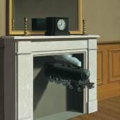 Bildsujet: René Magritte Die durchbohrte Zeit, 1938 Öl auf Leinwand The Art Institute of Chicago © VBK Wien, 2011