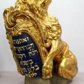 Vergoldeter Abguss der Brunnenfigur vom Jüdischen Friedhof Altona, Foto SHMH Altonaer Museum