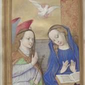 Verkündigung des Engels an Maria, Stundenbuch (lat.), Gent-Brügger Schule, Anfang 16. Jh. © Österreichische Nationalbibliothek