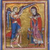 Verkündigung an Maria Liutold-Evangeliar Mondsee, um 1170 (c) onb.ac.at