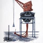 Steffen Volmer Verladen, 2019 Zeichnung 50 x 35 cm Leihgabe des Künstlers Foto: Kunstsammlungen Chemnitz / Lászlo Tóth © 2019 VG Bild-Kunst, Bonn