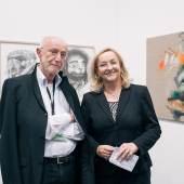 Manfred Lang (Galerie Lang, Maria Fekter (Finanzministerin) © VIENNAFAIR / Jakob Polacsek