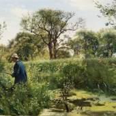 Vilhelm Kyhn, Ein Jäger im Marschalnd bei Ausumgaard, 1881 © Staatliche Schlösser, Gärten und Kunstsammlungen Mecklenburg-Vorpommern, Foto: K. Beutel
