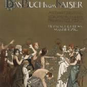 """Titelblatt zu """"Viribus Unitis. Das Buch vom Kaiser"""" Chromolithografie nach einem Entwurf von Kolo Moser 1898"""