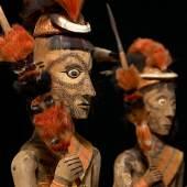 Grabfiguren (Modelle)  Konyak-Naga Slg. Christoph Fürer-Haimendorf, 1937 © Kunsthistorisches Museum, Wien