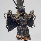 Tsam Tanzfigur (533 KB) Mongolei Samml. Leder erw. 1906 © KHM mit MVK und ÖTM