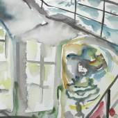 Sophie von Hellermann, Eine Vorstudie zu der Installation im Treppenhaus.
