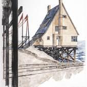 Steffen Volmer Von HIER aus!, 2019 Zeichnung 50 x 35 cm Leihgabe des Künstlers Foto: Kunstsammlungen Chemnitz / Lászlo Tóth © 2019 VG Bild-Kunst, Bonn