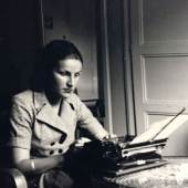 Andrea with Typewriter