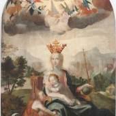 Hans Heinrich Wägmann, Maria mit Jesus und Johannes, 1617, Öl auf Holz, 220 x 134 cm, Kunstmuseum Luzern