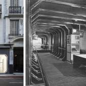 Now and then: waldengallery's distinctive facade in Viamonte street in Buenos Aires, and the original interior as it appeared in 1972, during its heyday as the Centro de Arte y Comunicación. Historian María José Herrera writes that the organization rallied architects, scientists, and artists to 'work together to try and configure an art that was brand-new, straight from a continent that was waiting to occupy its place in the world order.' Images courtesy of waldengallery, Buenos Aires.