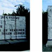 The two sections of the Berlin Wall