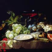 Jacob van Walscapelle Stillleben mit Früchten, Ende 17. Jh. Öl auf Holz, 23,5 x 30 cm Privatsammlung