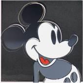 3420 ANDY WARHOL Mickey Mouse. 1981. Farbsiebdruck mit Diamantstaub. 96,5 x 96,5 cm. Ergebnis: CHF 96 000 Weltrekord