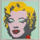 Andy Warhol (1928–1987) Marilyn (Blatt 7), 1967 Siebdruck, 91 x 91 cm Hamburger Kunsthalle, Kupferstich- kabinett © 2021 The Andy Warhol Foundation for the Visual Arts, Inc. / Licensed by Artists Rights Society (ARS), New York Foto: Christoph Irrgang