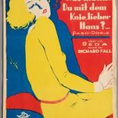Was machst Du mit dem Knie, lieber Hans? Titelblatt des Klavierauszugs. © Österreichisches Theatermuseum