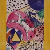 Wassily Kandinsky Entwurf für den Umschlag des Almanach, 1911 Städtische Galerie im Lenbachhaus und Kunstbau München © VBK Wien, 2011
